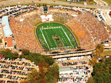 University of Missouri - Aerial of Memorial Stadium and Block M Photographic Print by Sarah Becking