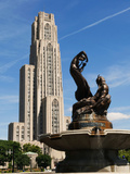University of Pittsburgh - Statue and Cathedral of Learning Photographic Print by John Beale
