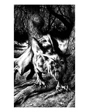 Werewolf (Revenge of the Vampire, Illustration no. 05) Premium Giclee Print by Martin Mckenna