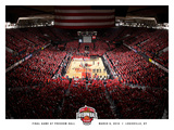 University of Louisville - Freedom Hall Finale- Louisville Basketball Fotografisk tryk