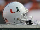 University of Miami - Miami Football Helmet Photographic Print