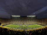 University of Michigan - Michigan vs Notre Dame under the Lights Photographic Print