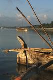 Ngalawa boat on Kenya coast at Mombasa Photographic Print by Charles Bowman