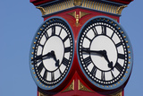 Clock twinface Premium Giclee Print by Charles Bowman
