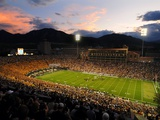 University of Colorado - Sun Sets at Folsom Field Fotografisk tryk