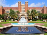 Florida State University - Fountain at the Westcott Building Prints by Larry Novey