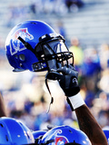 University of Memphis - Memphis Tigers Football Helmet Posters by Joe Murphy