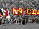 Florida State University - Seminole Flags in Doak Campbell Stadium Poster by Mike Olivella