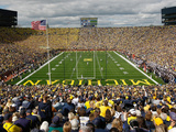 University of Michigan - Michigan Stadium: Home of the Wolverines Fotografisk tryk