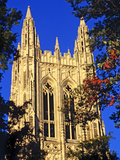 Duke University - Fall Frames Duke Chapel Top Photographic Print