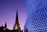 Selfridges building St Martins church Birmingham Premium Giclee Print by Charles Bowman