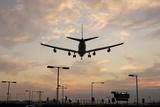Airplane landing Premium Giclee Print by Charles Bowman