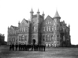 Oklahoma State University - Library and Biology in 1904 Photographic Print