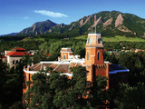 University of Colorado - Old Main and Flatirons Photographic Print