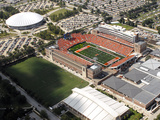 University of Illinois - Aerial View of Memorial Stadium and Assembly Hall Photographic Print