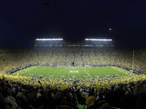 University of Michigan - The Big House under the Lights Photographic Print