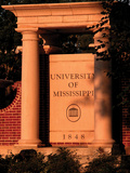 University of Mississippi (Ole Miss) - Entrance to Ole Miss Photographic Print