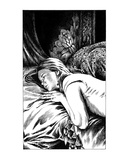 Sleeping Victim (Revenge of the Vampire, Illustration no. 26) Premium Giclee Print by Martin Mckenna