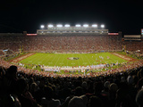 Florida State University - Doak Campbell Stadium at Night Fotografisk tryk af Lance King