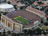 Louisiana State University - Tiger Stadium Aerial Fotografisk tryk