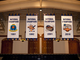 Duke University - Duke Basketball National Championship Banners Photo