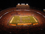 University of Tennessee - Marching Band T in Neyland Stadium Photographic Print
