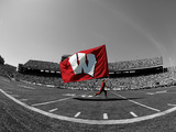 University of Wisconsin - W Flag in Camp Randall Foto av  Madison / University Communications