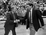 University of North Carolina - Coach Dean Smith Greeting Duke Photographic Print