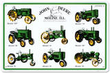 John Deere Collage Cartel de chapa
