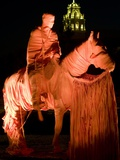 Texas Tech University - Saddle Tramps Cover the Will Rogers Statue Photographic Print by Michael Strong