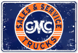 GMC Sales Tin Sign
