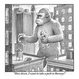 """Slow down, I want to take a peek in Barneys!""  - New Yorker Cartoon Premium Giclee Print by Harry Bliss"