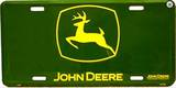 John Deere Logo License Plate Tin Sign