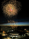 University of Cincinnati - University of Cincinnati Fireworks Photographic Print