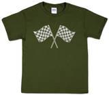 Youth: Nascar Racing Flags Word art Koszulka