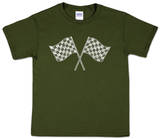 Youth: Nascar Racing Flags Word art - Tişört