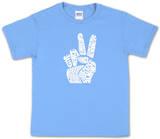 Youth: 'Give Peace a Chance' Peace Fingers Word art Shirt