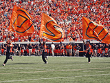 Oklahoma State University - Oklahoma State Football Flags Fotografisk tryk