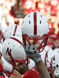 University of Nebraska - Nebraska Football Helmets Fotografisk tryk