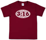 Youth: John 3:16 Word art T-Shirt