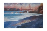 Golden Gate Bridge during Sunset Premium Giclee Print by Markus Bleichner