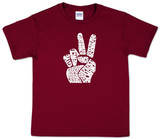 Youth: 'Give Peace a Chance' Peace Fingers Word art Shirts
