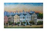 Victorian Houses - Seven Sisters San Francisco Reproduction procédé giclée Premium par Markus Bleichner
