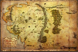 The Hobbit-Map Poster