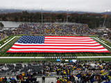 Army (West Point) - American Flag Spans Michie Stadium Photographic Print