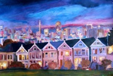 San Francisco - Painted Ladies - Alamo Sq Reproduction giclée Premium par Markus Bleichner