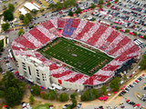 University of Arkansas - A Striped War Memorial Stadium Photographic Print