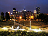 University of Pittsburgh - North Shore Lit Up Photographic Print by Will Babin