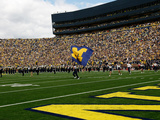 University of Michigan - Michigan Flag Photographic Print
