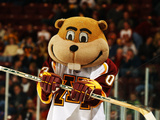 University of Minnesota - Goldy the Gopher at Hockey Game Photographic Print